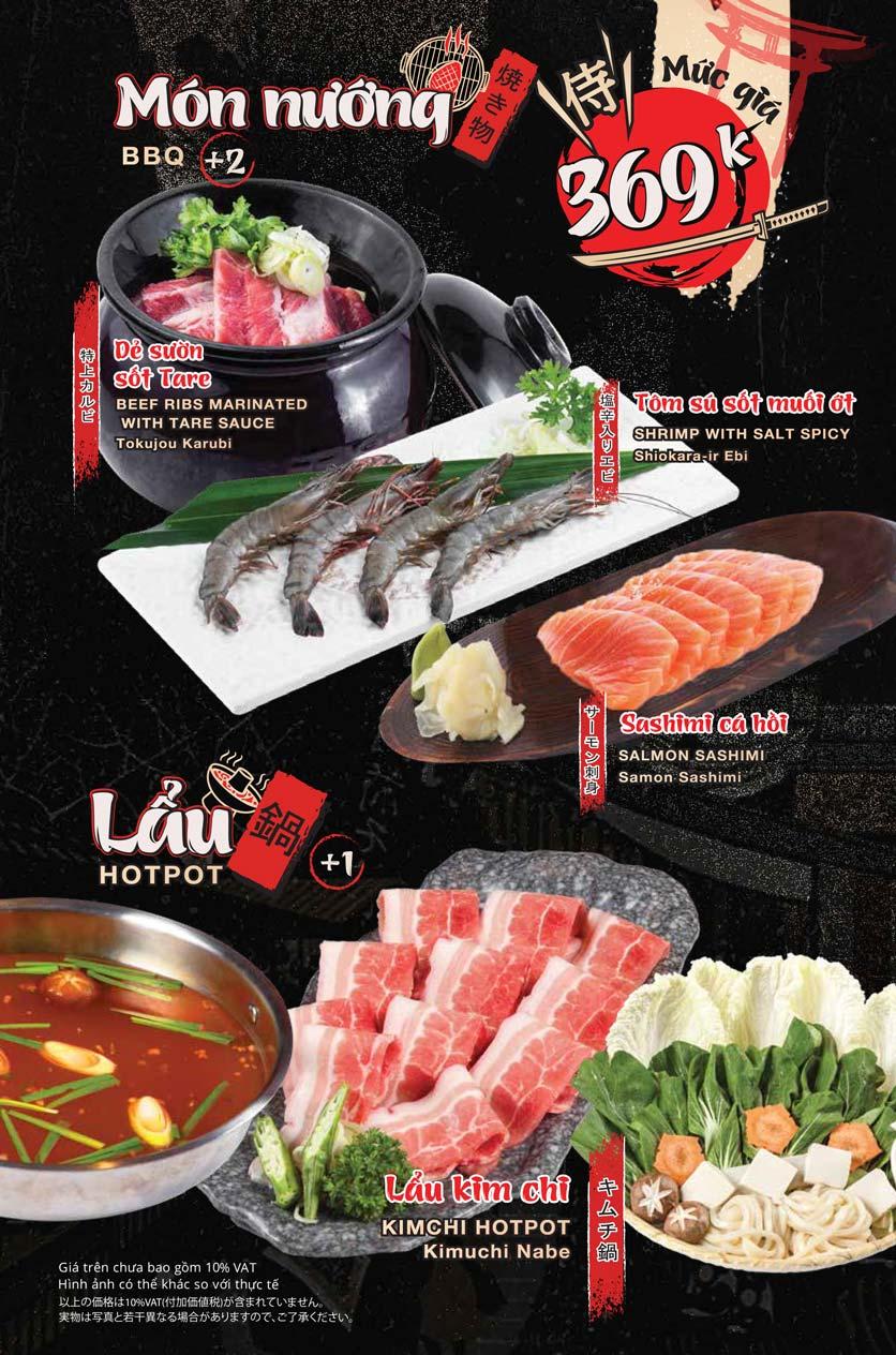 Menu Tasaki BBQ - Trần Thái Tông 10