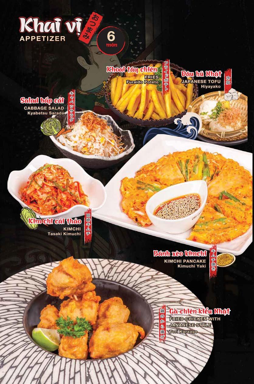 Menu Tasaki BBQ - Trần Thái Tông 2