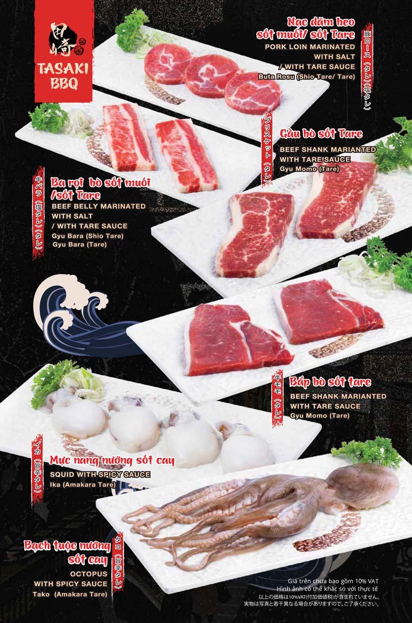 Menu Tasaki BBQ - Trần Thái Tông 7