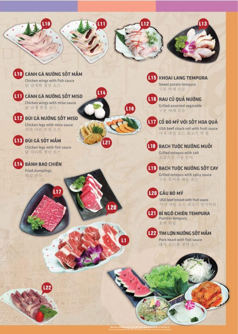 Menu Mr. Shin - Quán thịt nướng 5 cấp độ - Linh Đàm 2