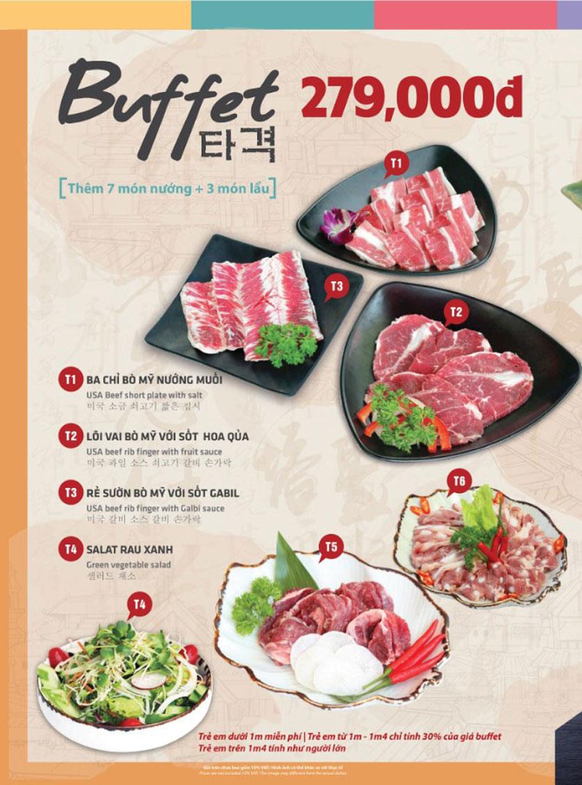 Menu Mr. Shin - Quán thịt nướng 5 cấp độ - Linh Đàm 3