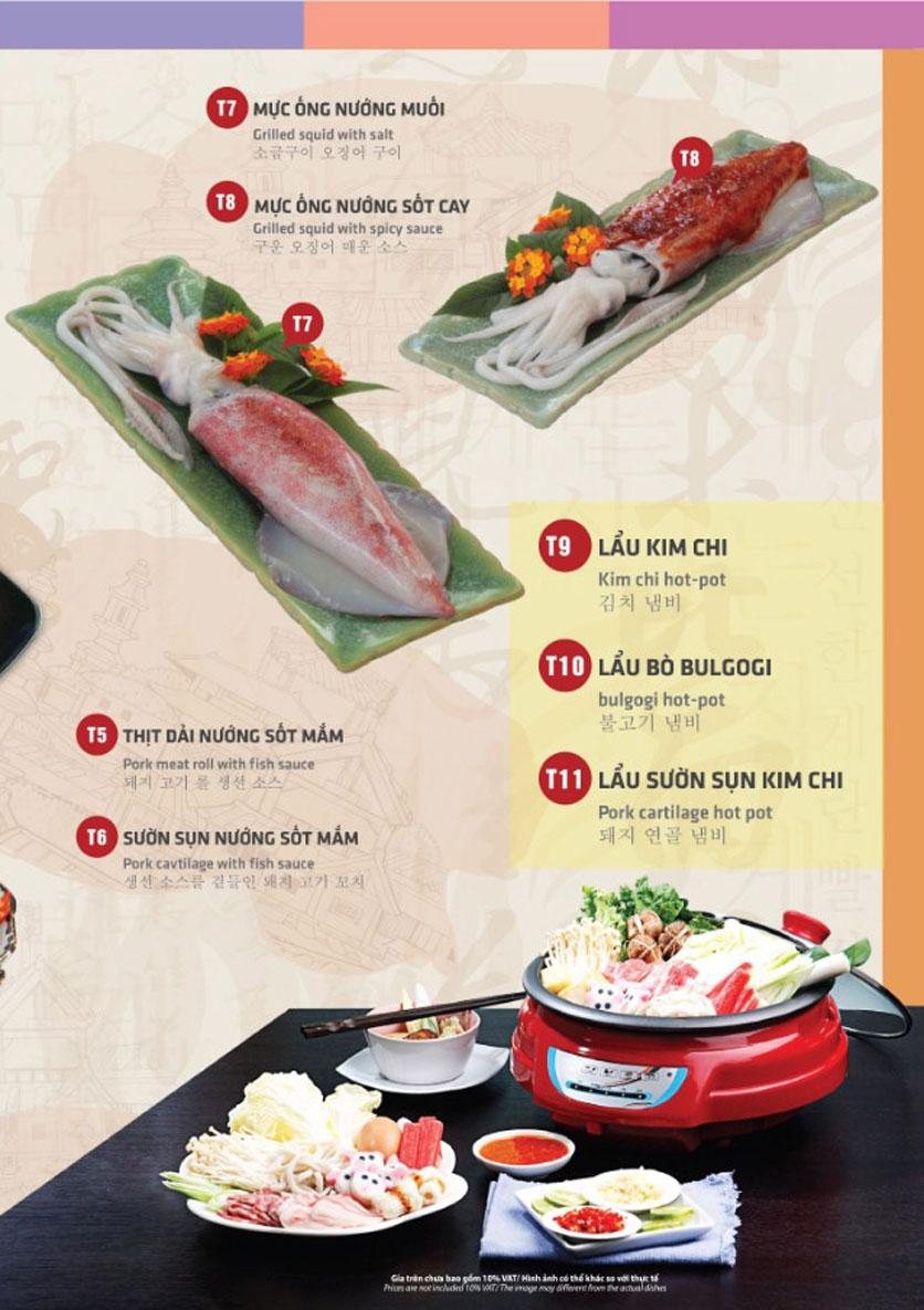 Menu Mr. Shin - Quán thịt nướng 5 cấp độ - Linh Đàm 4