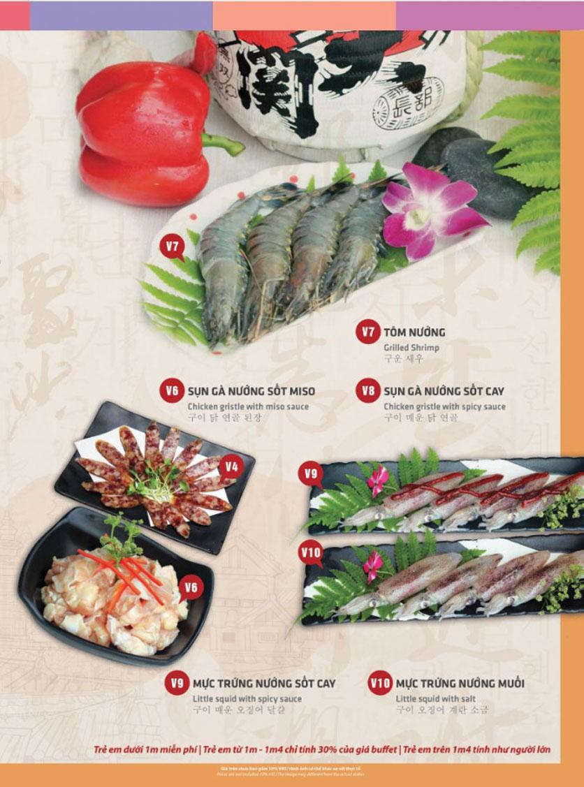 Menu Mr. Shin - Quán thịt nướng 5 cấp độ - Linh Đàm 6