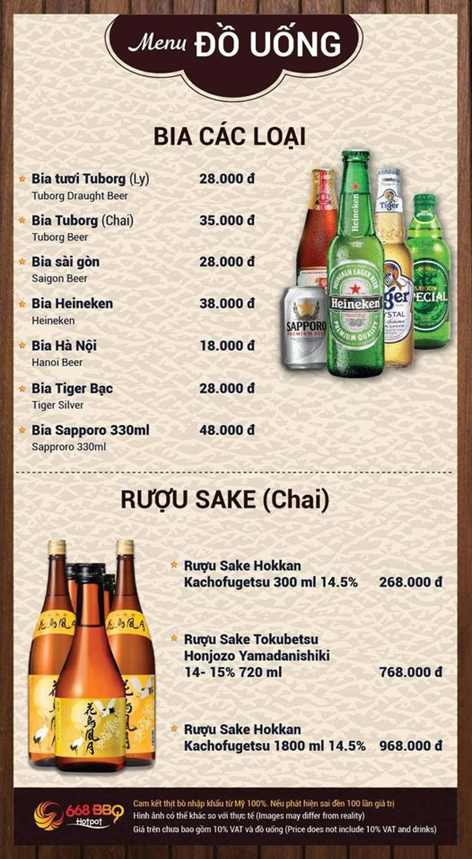 Menu 668 BBQ & hotpot - Lê Văn Lương 13