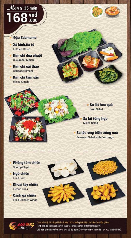 Menu 668 BBQ & hotpot - Lê Văn Lương 2