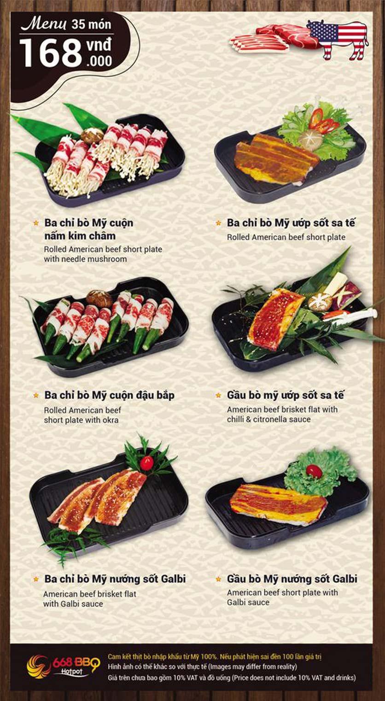 Menu 668 BBQ & hotpot - Lê Văn Lương 3