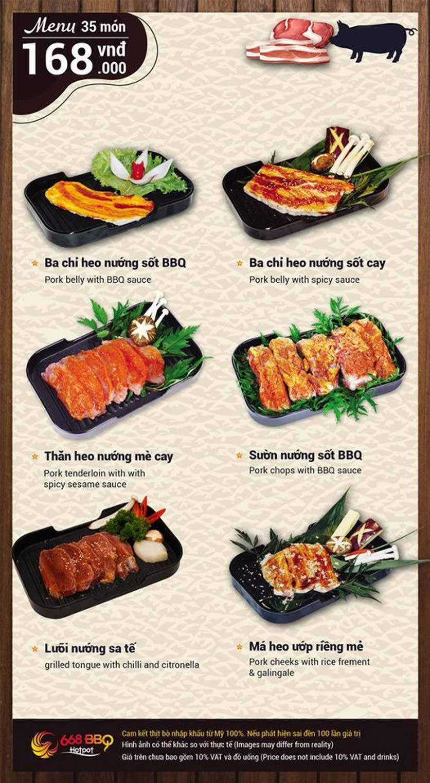 Menu 668 BBQ & hotpot - Lê Văn Lương 4