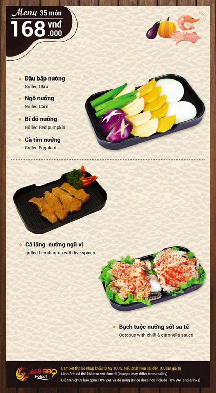 Menu 668 BBQ & hotpot - Lê Văn Lương 5