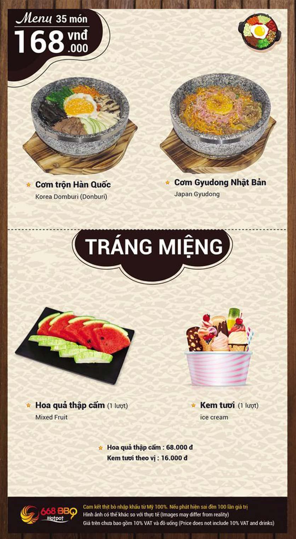 Menu 668 BBQ & hotpot - Lê Văn Lương 7