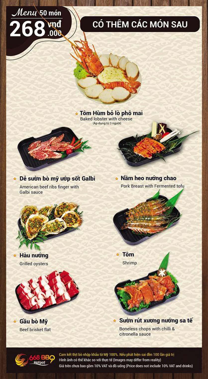 Menu 668 BBQ & hotpot - Lê Văn Lương 8