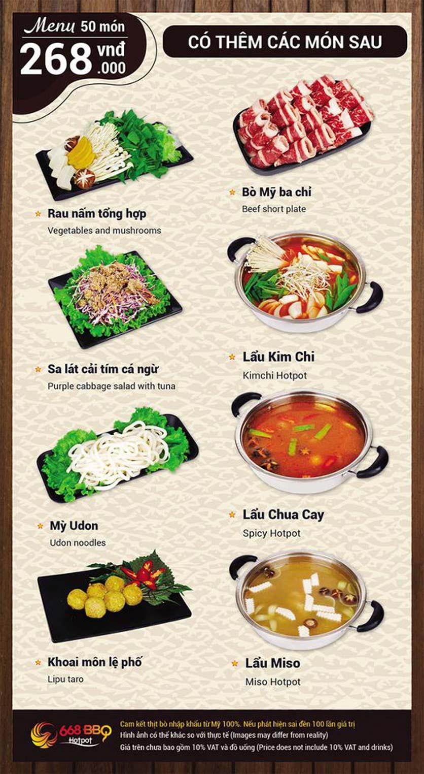 Menu 668 BBQ & hotpot - Lê Văn Lương 9