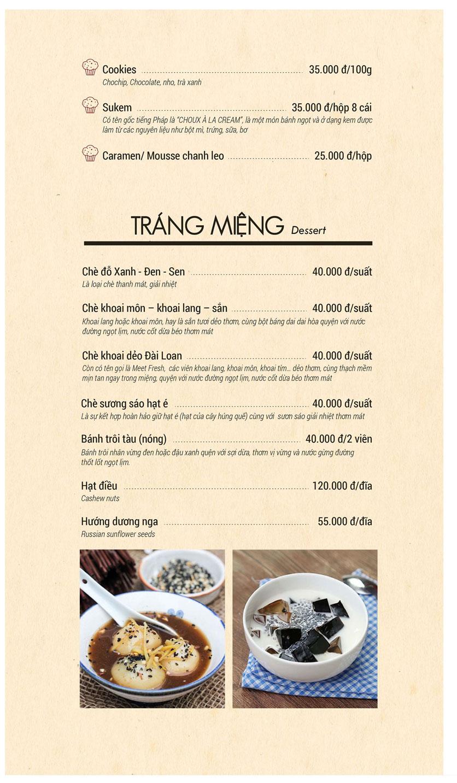 Menu Buffet Sen Xanh - Lê Văn Lương  9