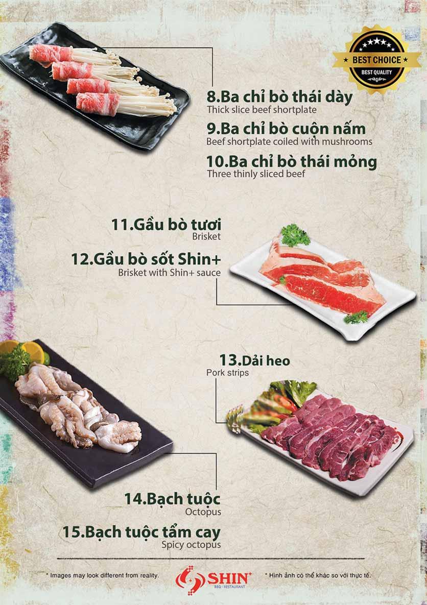 Menu Shin+ BBQ - Tố Hữu   2