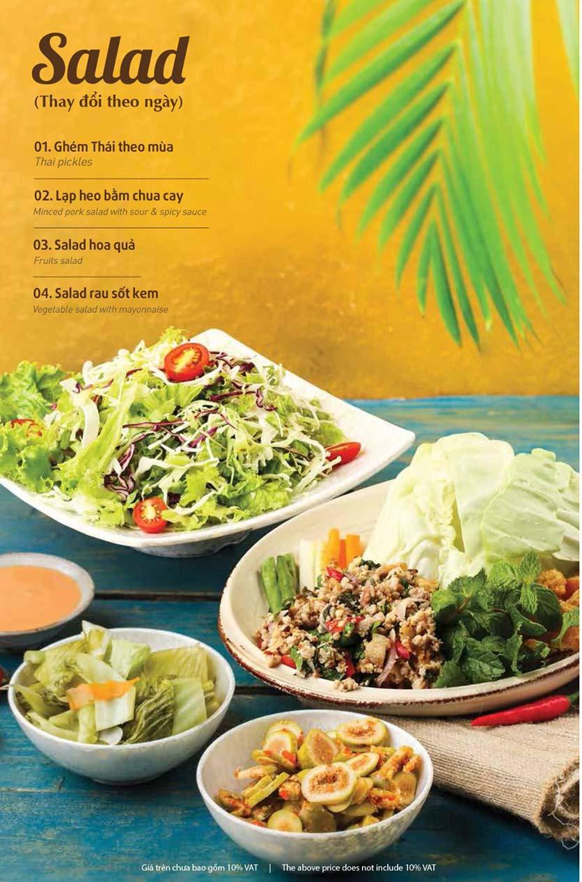 Menu Thai Pattaya  - Láng Hạ 2