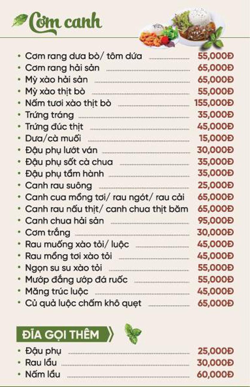 Menu Xứ Đôông - Nguyễn Huy Tưởng 4