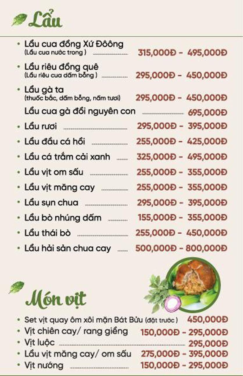 Menu Xứ Đôông - Nguyễn Huy Tưởng 5