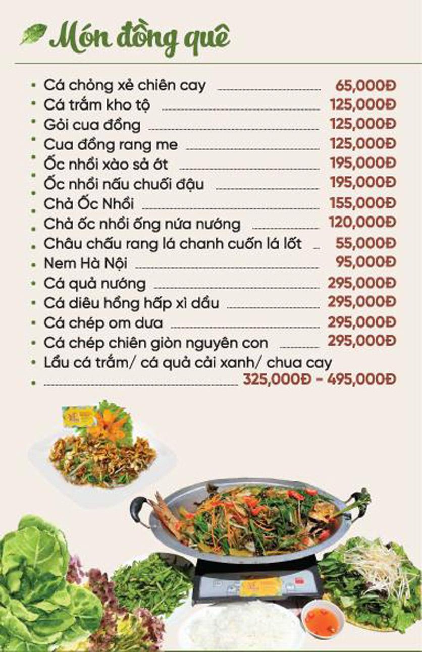 Menu Xứ Đôông - Nguyễn Huy Tưởng 6