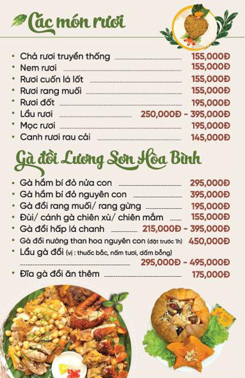 Menu Xứ Đôông - Nguyễn Huy Tưởng 8