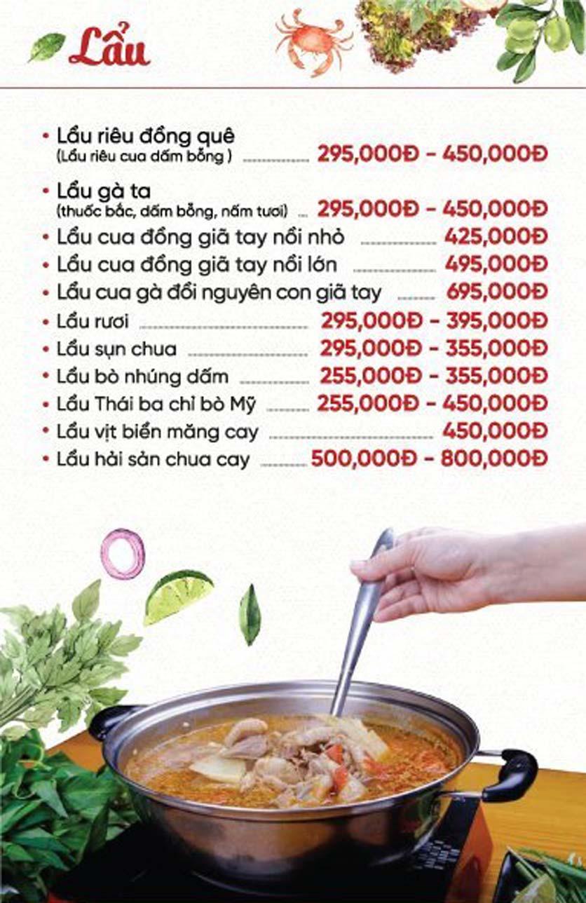 Menu Xứ Đôông - Nguyễn Huy Tưởng 10
