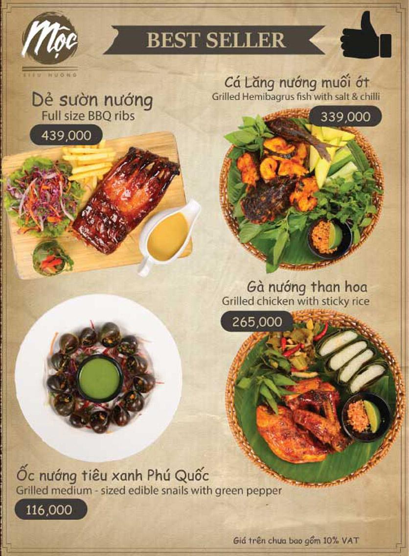 Menu Mộc – Riêu & Nướng – Lam Sơn 1