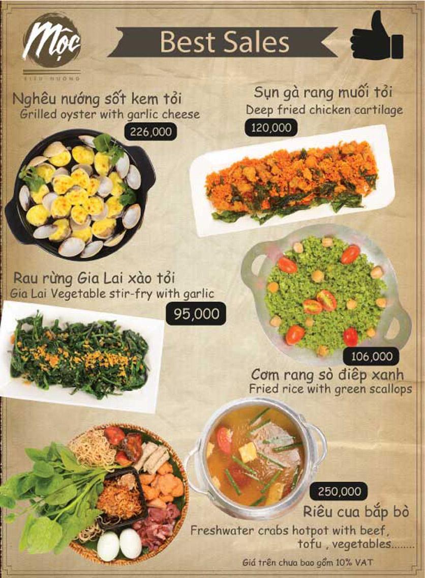 Menu Mộc – Riêu & Nướng – Lam Sơn 3