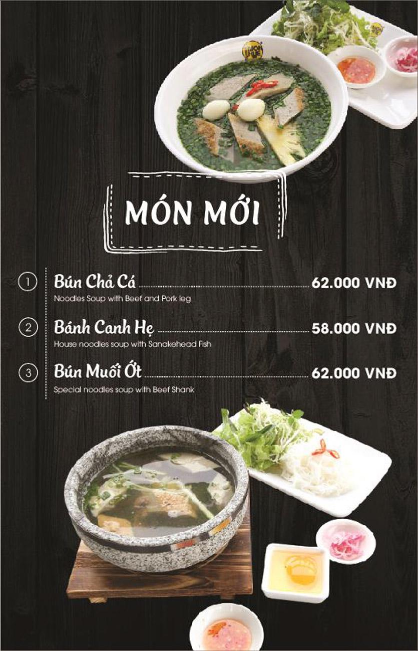 Menu Món Huế - AEON Mall Long Biên 1