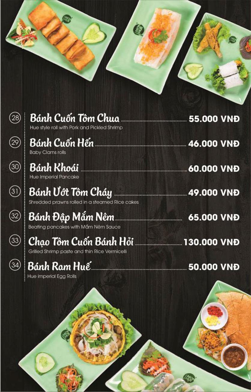 Menu Món Huế - AEON Mall Long Biên 11