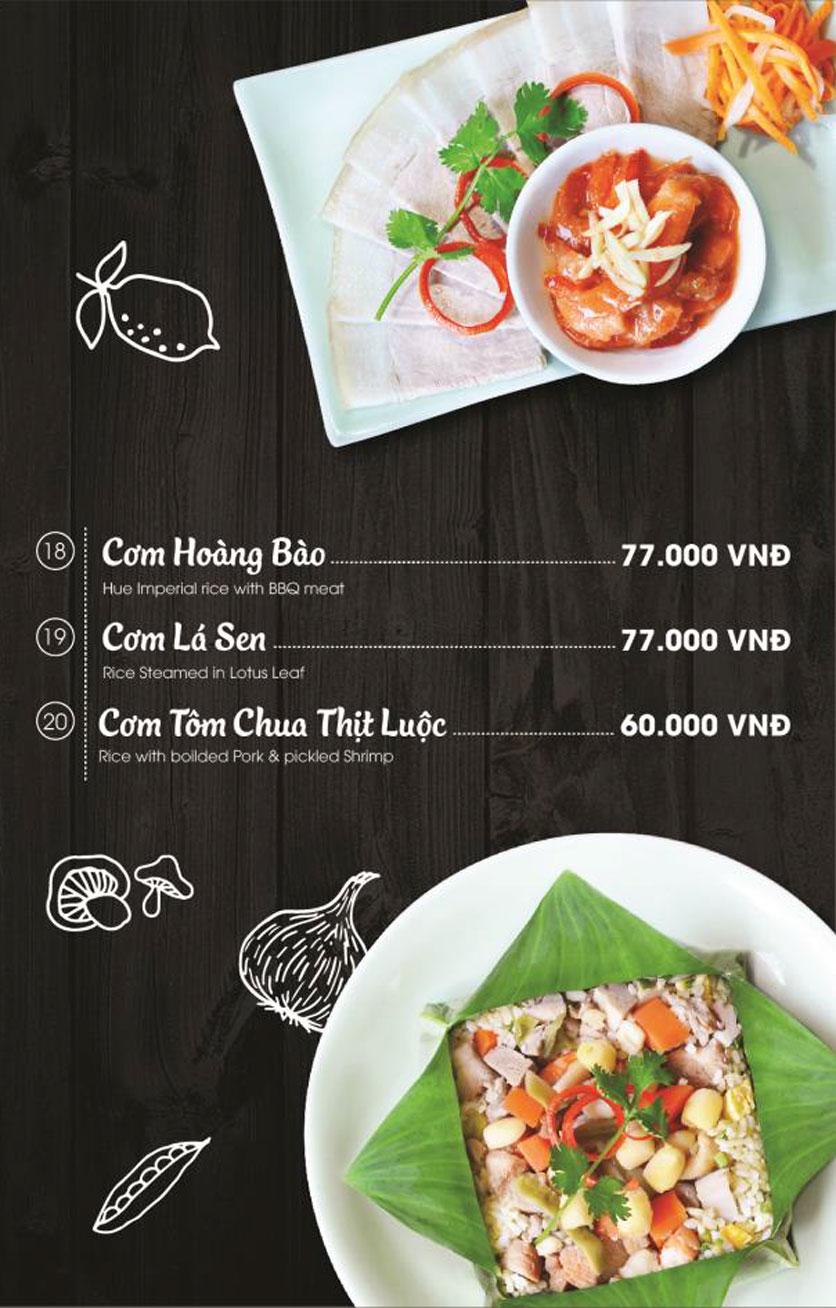 Menu Món Huế - AEON Mall Long Biên 15