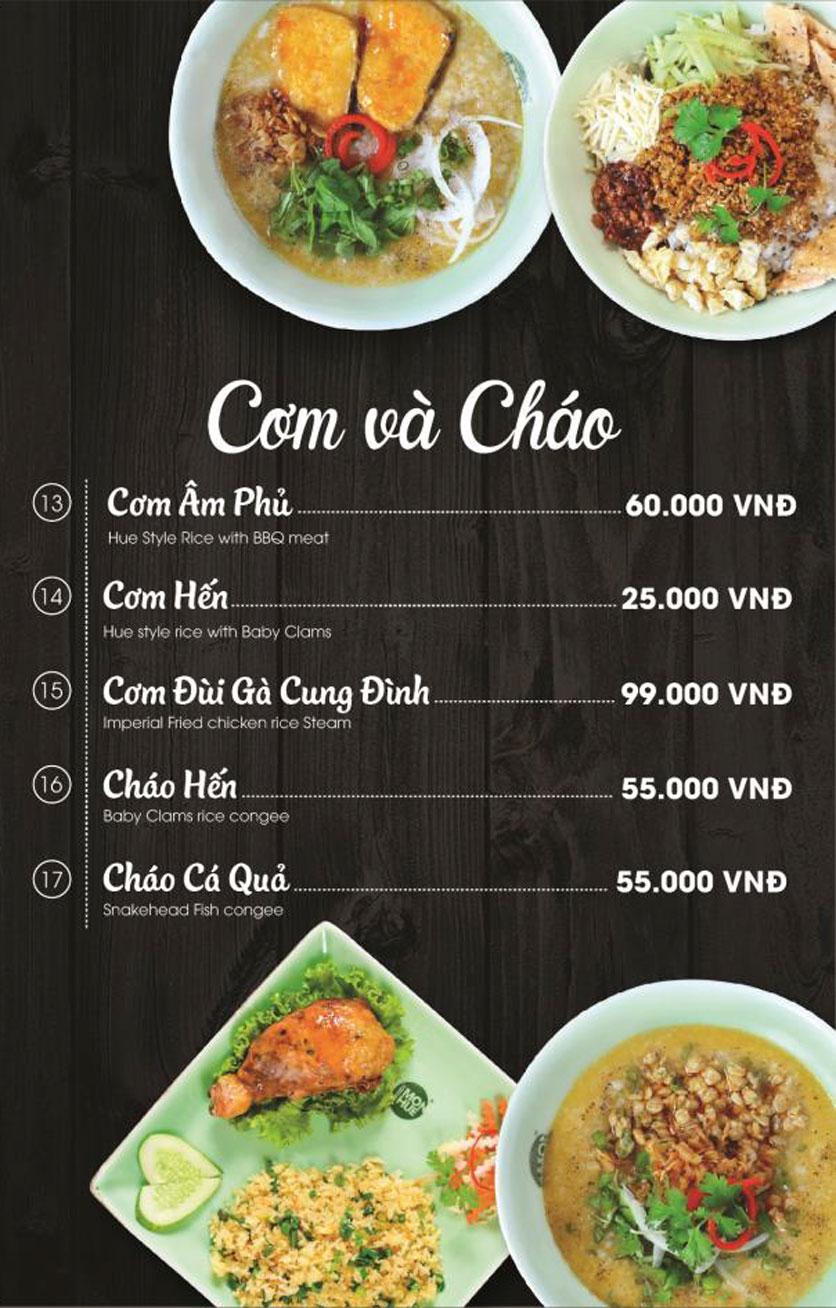 Menu Món Huế - AEON Mall Long Biên 17