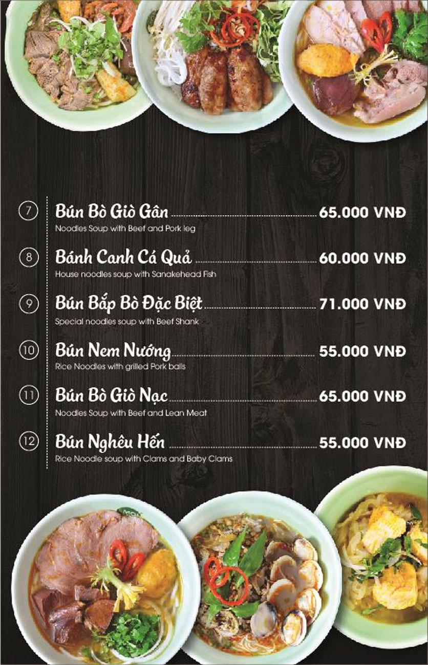 Menu Món Huế - AEON Mall Long Biên 19