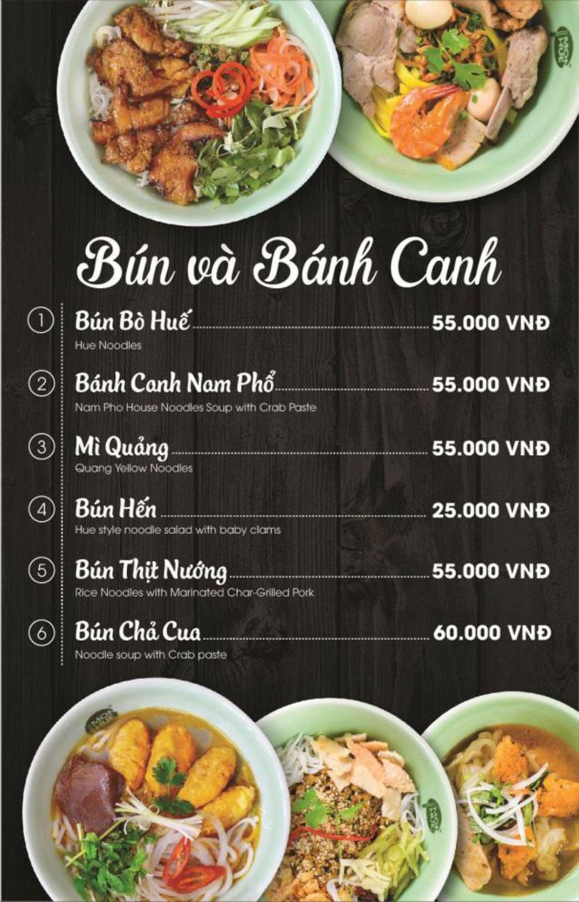Menu Món Huế - AEON Mall Long Biên 21