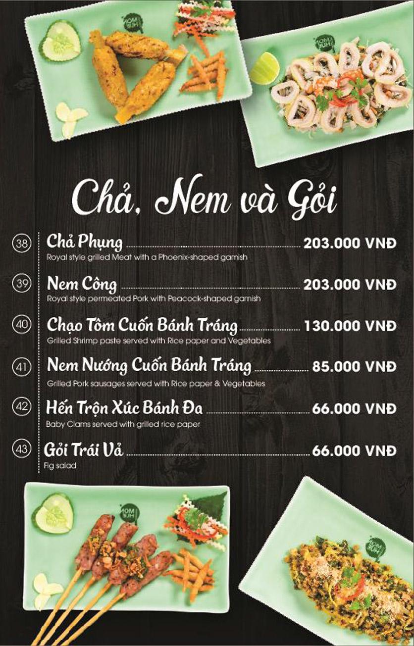 Menu Món Huế - AEON Mall Long Biên 5