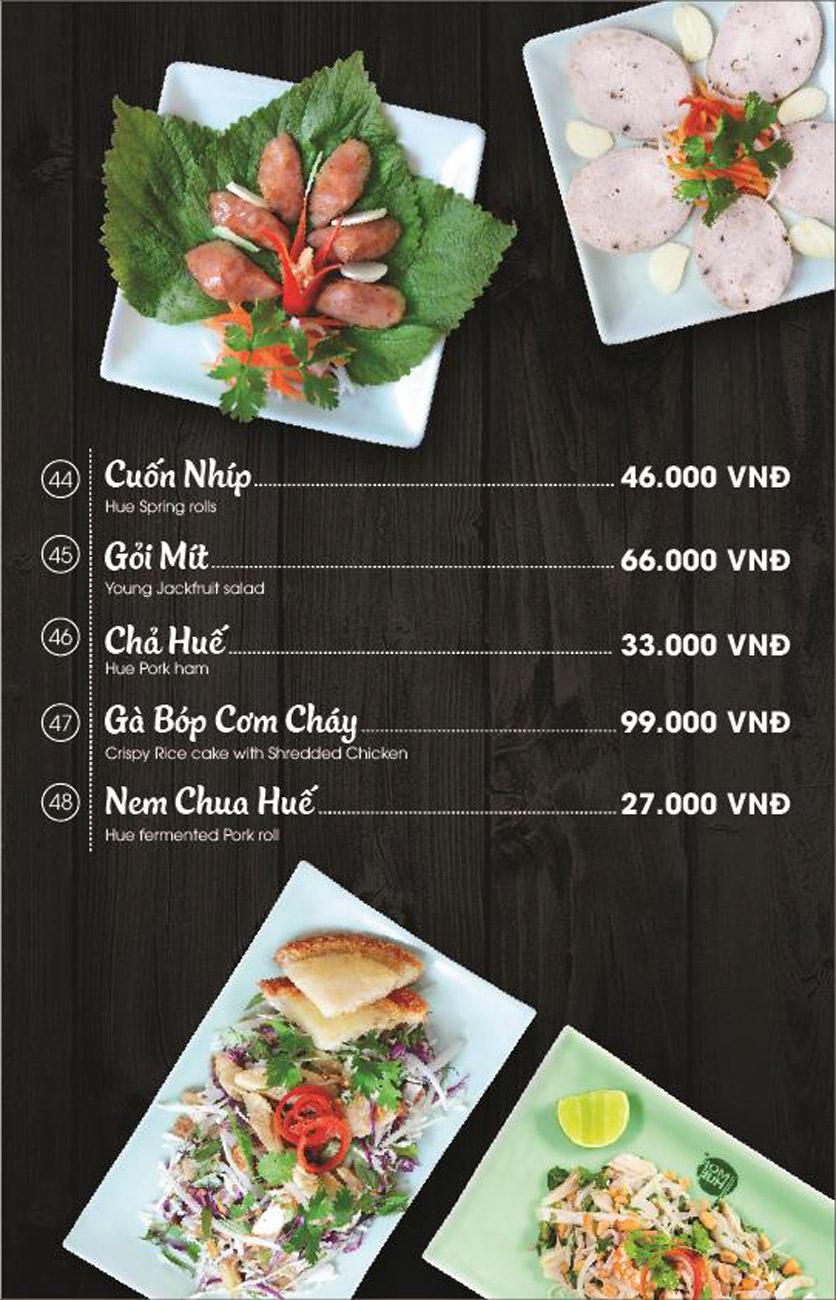 Menu Món Huế - AEON Mall Long Biên 6