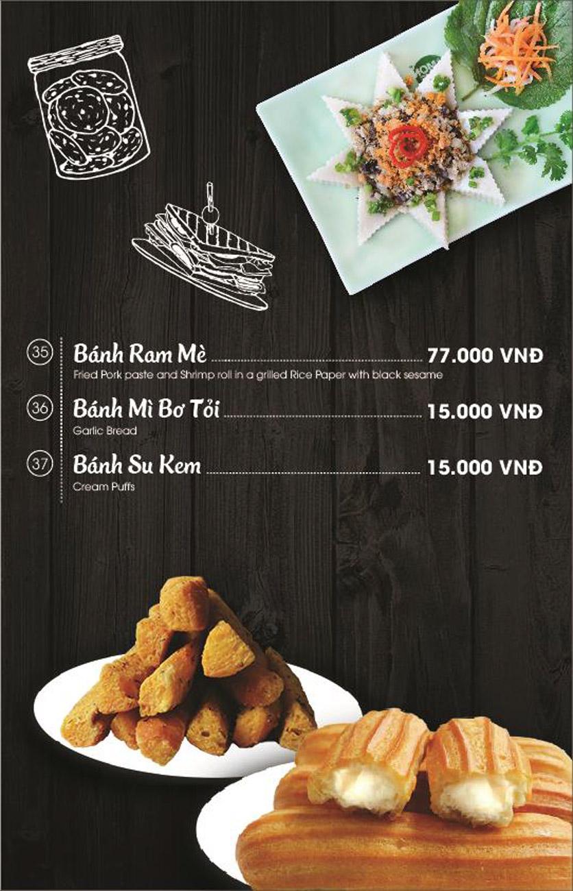 Menu Món Huế - AEON Mall Long Biên 9