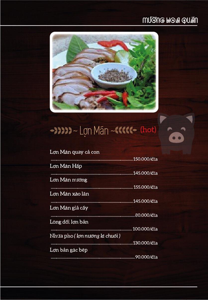 Menu Mường Hoa Quán - Linh Đàm   2