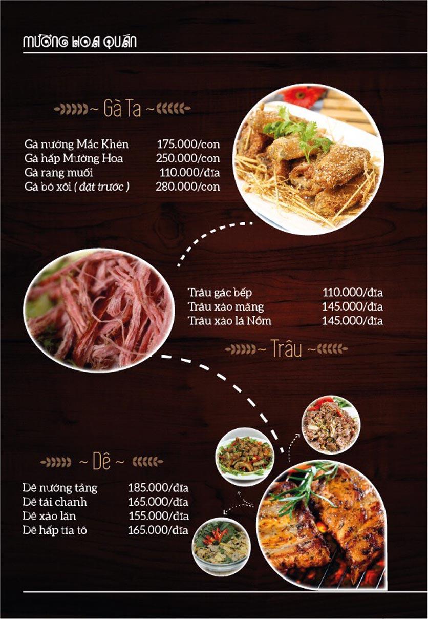 Menu Mường Hoa Quán - Linh Đàm   3