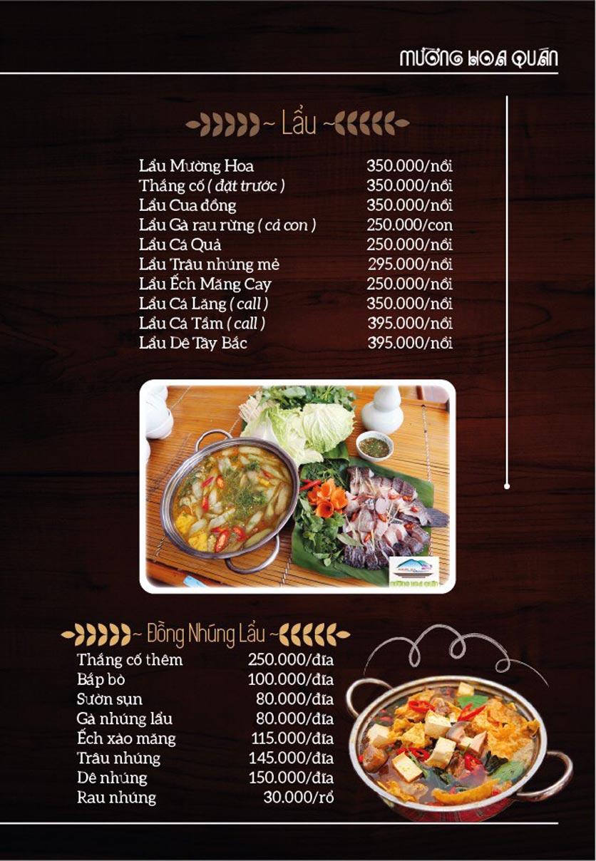 Menu Mường Hoa Quán - Linh Đàm   4