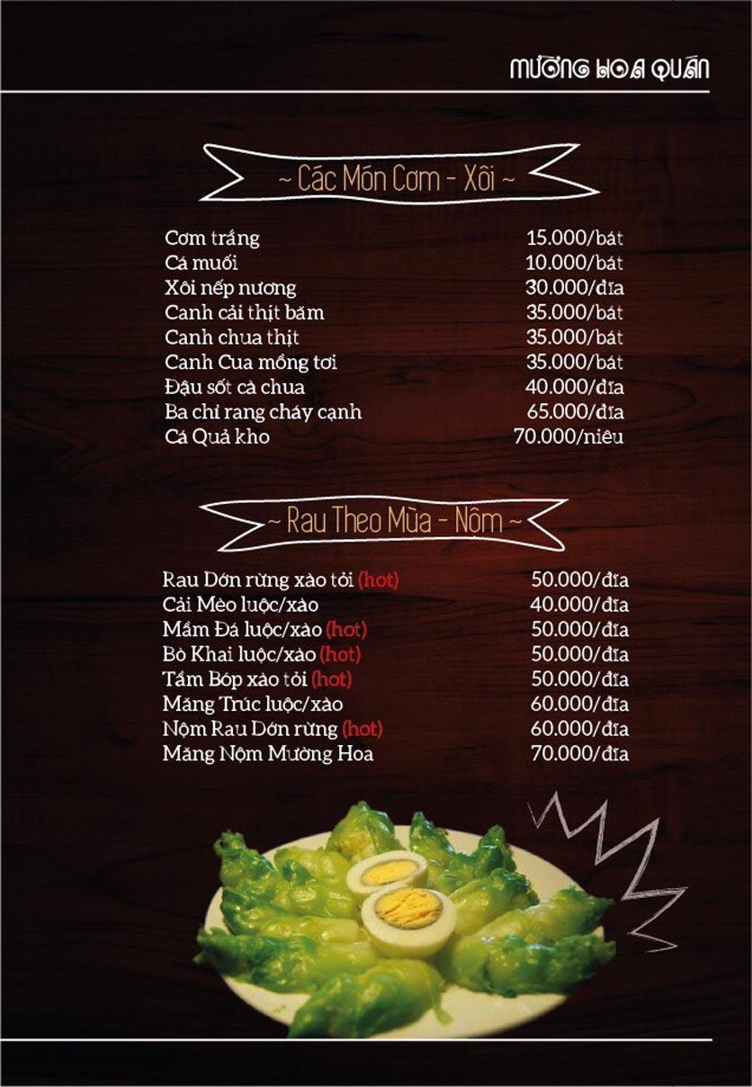 Menu Mường Hoa Quán - Linh Đàm   6