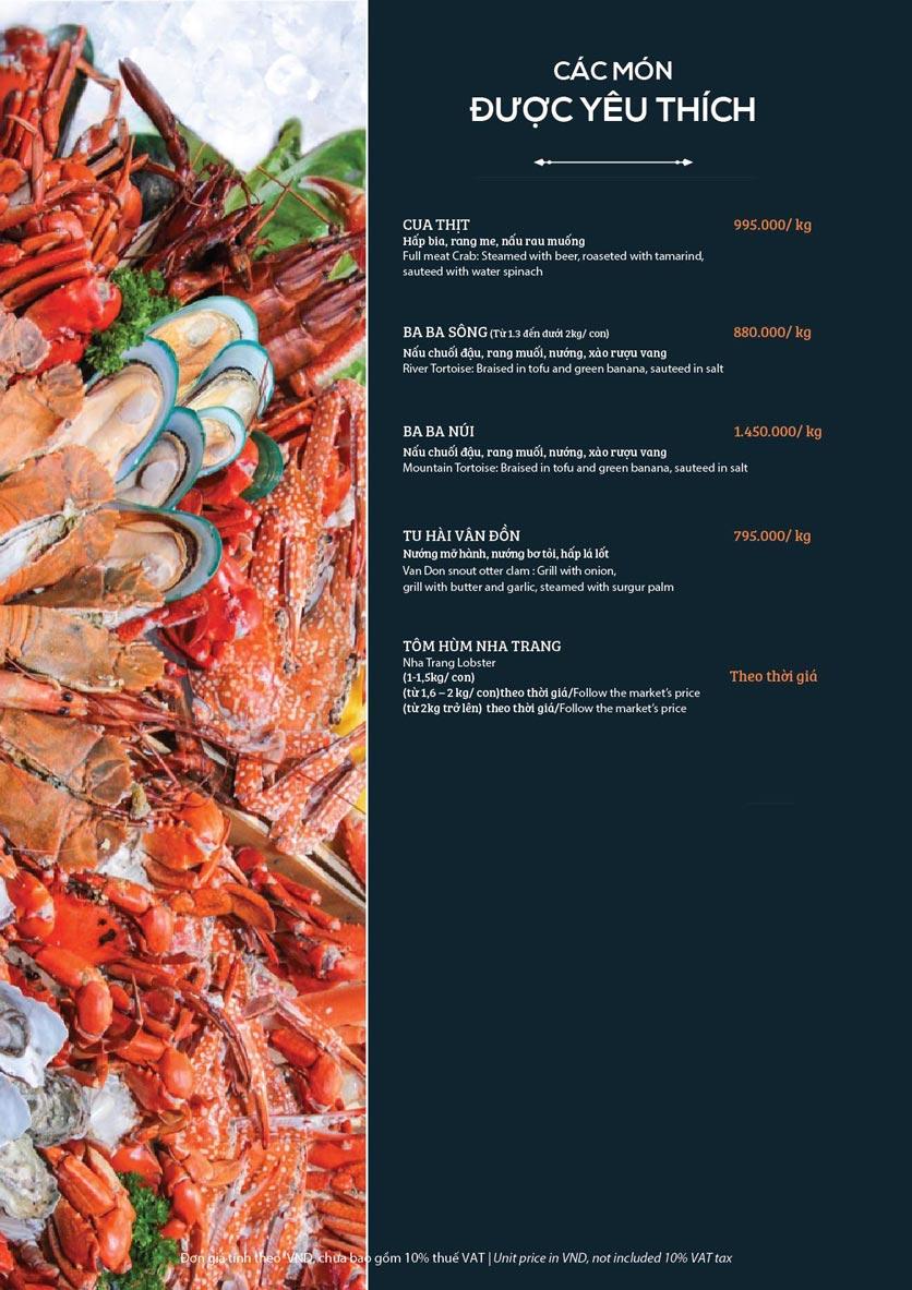 Menu My Way Seafood - Duy Tân 1