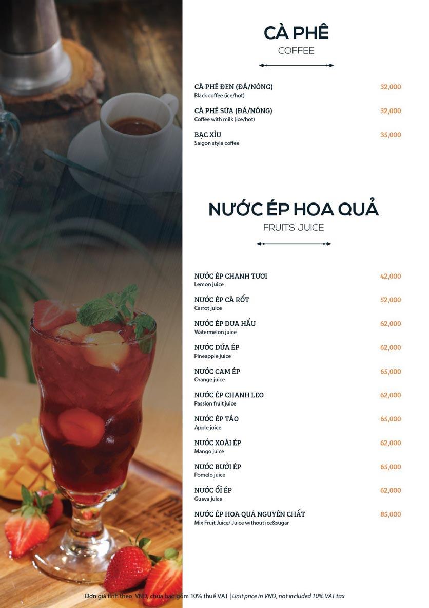 Menu My Way Seafood - Duy Tân 14