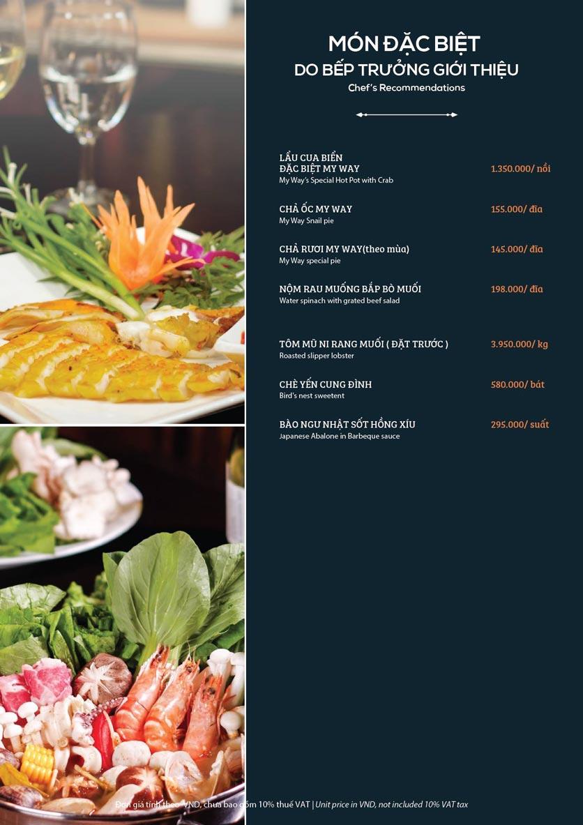 Menu My Way Seafood - Duy Tân 2