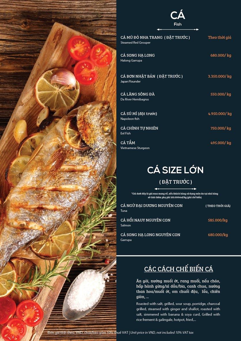 Menu My Way Seafood - Duy Tân 3