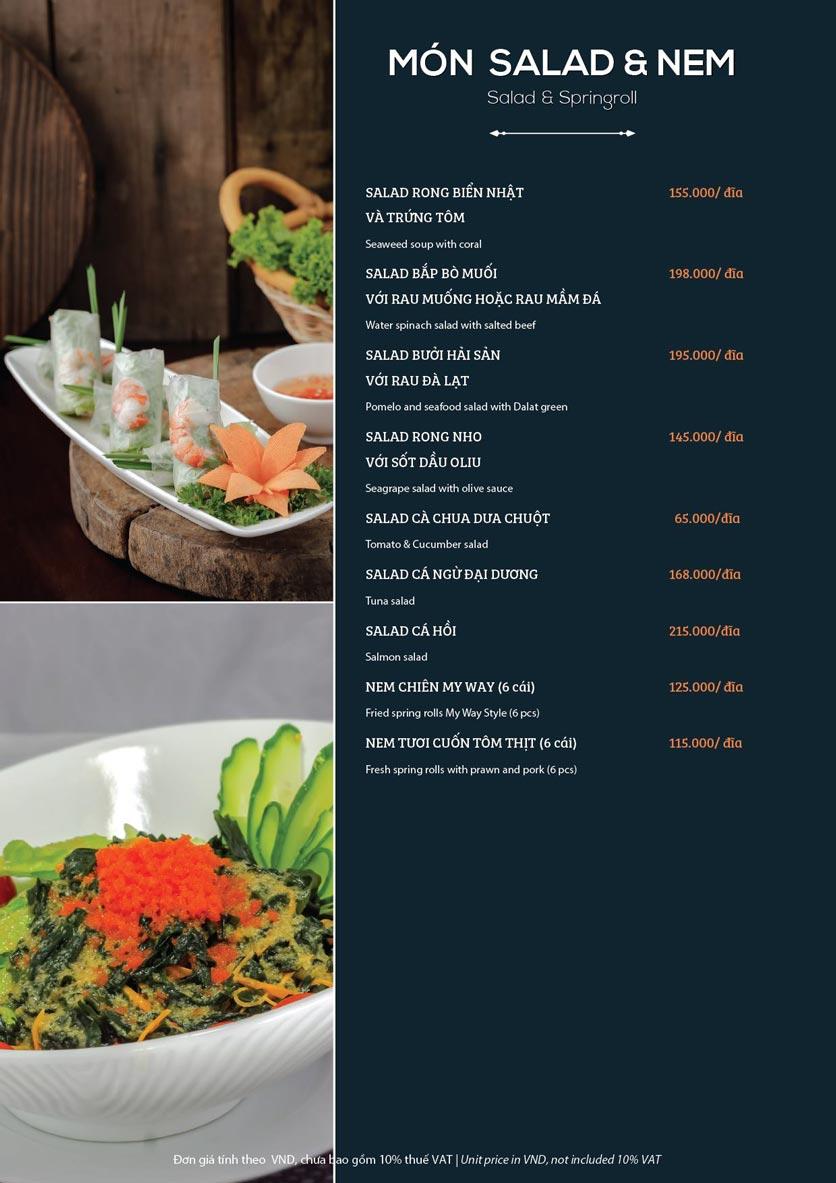 Menu My Way Seafood - Duy Tân 5