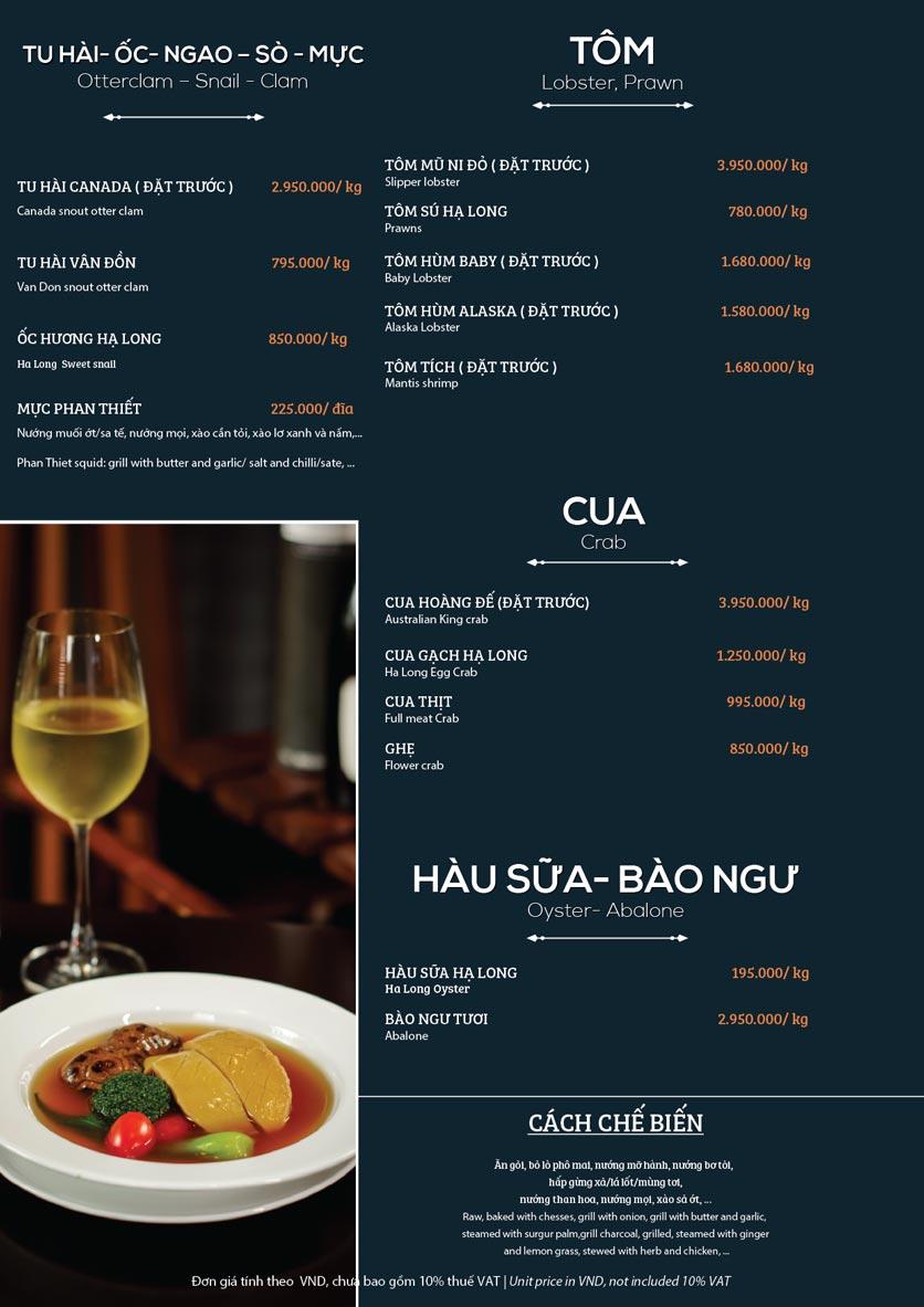 Menu My Way Seafood - Duy Tân 6