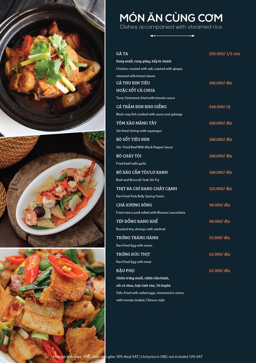 Menu My Way Seafood - Duy Tân 7