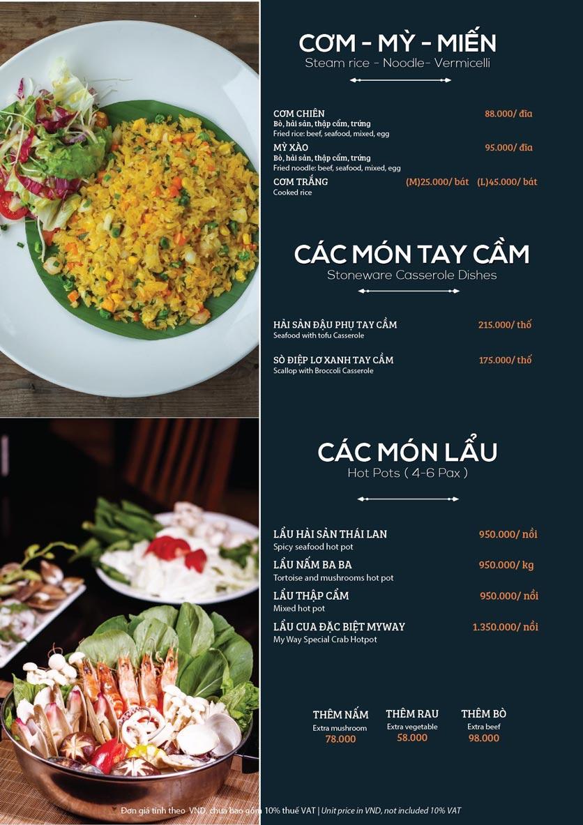 Menu My Way Seafood - Duy Tân 8