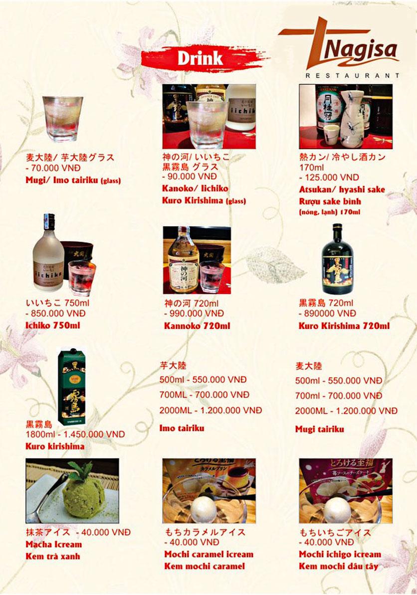 Menu Nhà hàng Nhật Bản Nagisa - Linh Lang  19