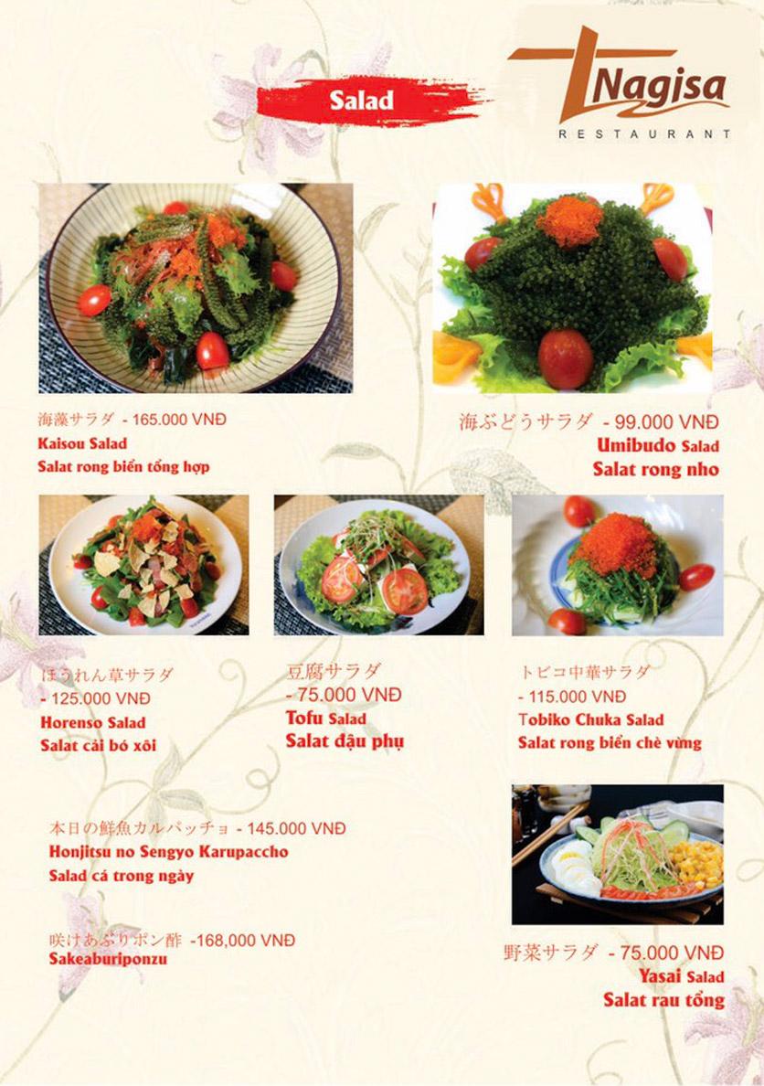 Menu Nhà hàng Nhật Bản Nagisa - Linh Lang  8