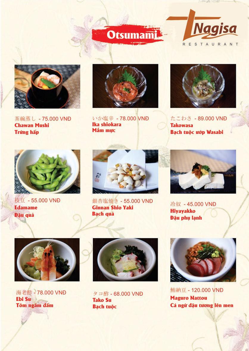 Menu Nhà hàng Nhật Bản Nagisa - Linh Lang  9