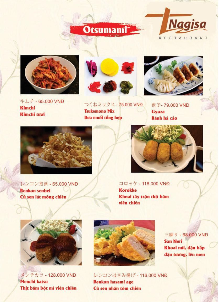 Menu Nhà hàng Nhật Bản Nagisa - Linh Lang  10